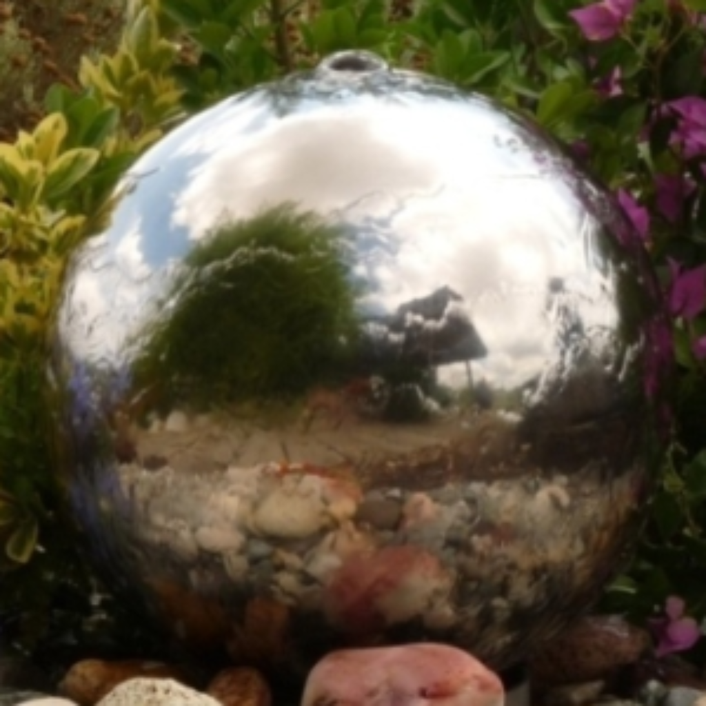 300mm Stainless Steel Sphere Water Feature