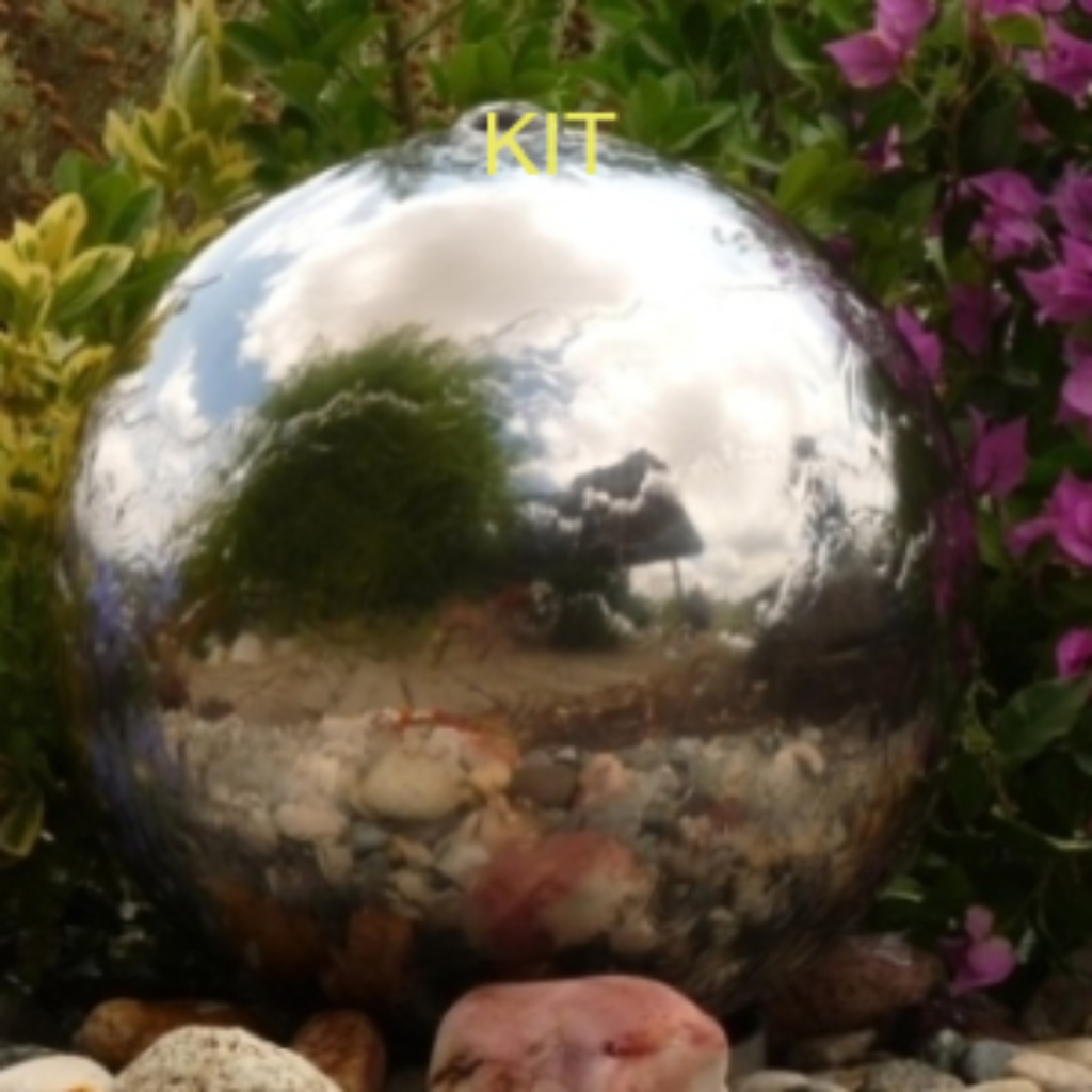 300mm Stainless Steel Sphere Water Feature KIT
