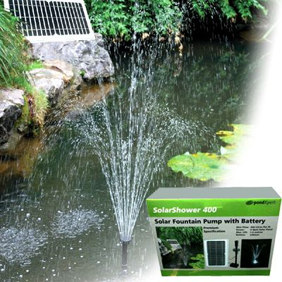 SolarShower 400 solar fountain Pump