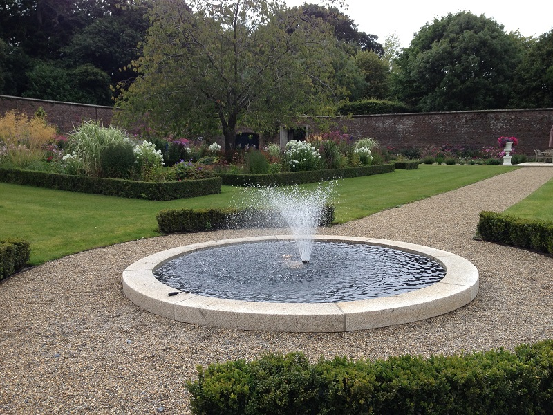 Rockworld water features installation Pond with fountain