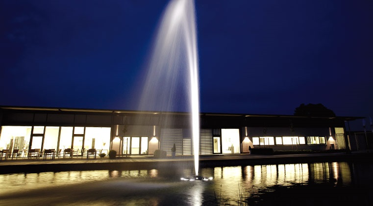 Floating fountains for Design of oxidation pond