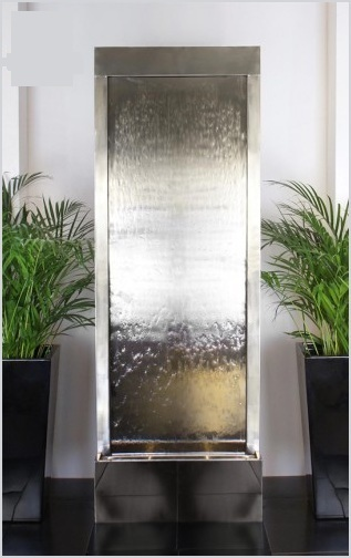 Elegant Stainless Steel Water Wall