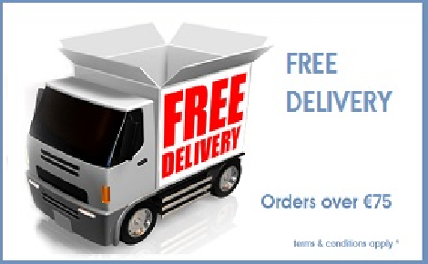 free delivery over €75 orders