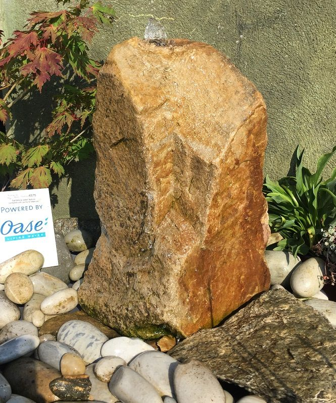 Sandstone Monolith Water Feature. 700mm tall