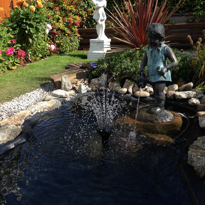 small ornamental fountain pond