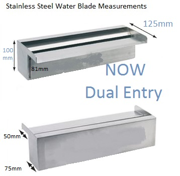 water blade side dimensions