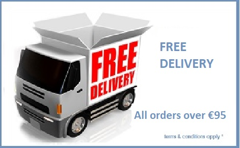 free delivery over €95 orders